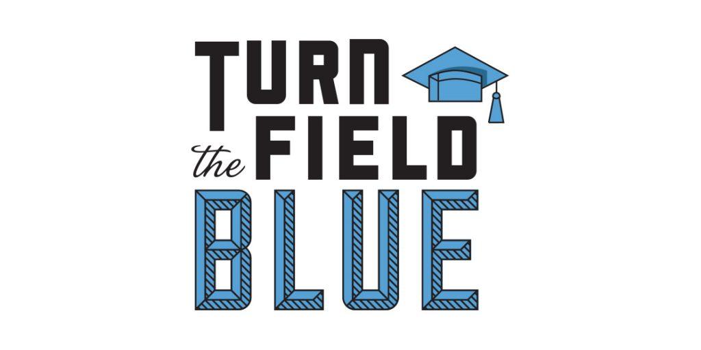 Turn the Field Blue Logo